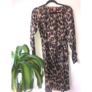 Joe Fresh NWT Leopard print dress long sleeve SM